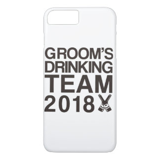 Capa iPhone 8 Plus/7 Plus Equipe 2018 do bebendo do noivo