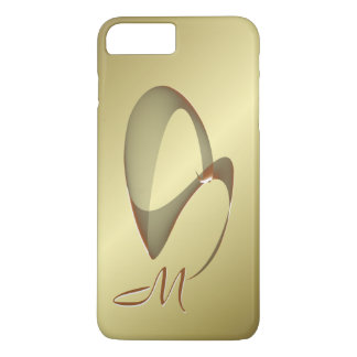 Capa iPhone 8 Plus/7 Plus Espiral elegante de Sinedot do abstrato do bronze