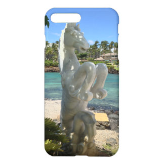 Capa iPhone 8 Plus/7 Plus Estátua do hipocampo (Mar-Cavalo), Waikoloa, Havaí