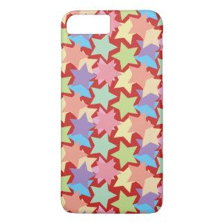 Capa iPhone 8 Plus/7 Plus Estrelas coloridas Iphone 8 Plus/7 mais o caso
