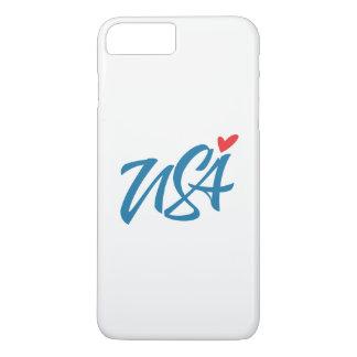 Capa iPhone 8 Plus/7 Plus Eu amo EUA