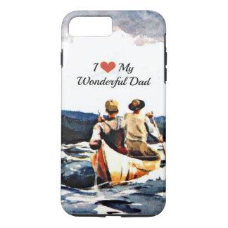 Capa iPhone 8 Plus/7 Plus Eu amo meu pai maravilhoso