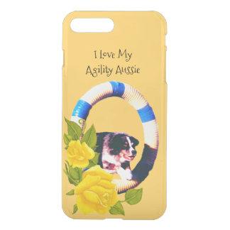 Capa iPhone 8 Plus/7 Plus Eu amo minha agilidade australiana, rosas amarelos