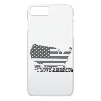 Capa iPhone 8 Plus/7 Plus Eu amo o exemplo de América