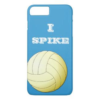 Capa iPhone 8 Plus/7 Plus Eu cravo a caixa positiva do iPhone 7 do voleibol