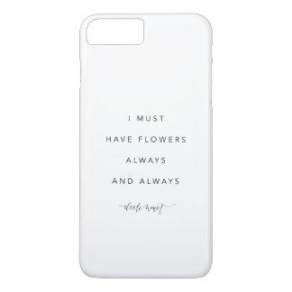 Capa iPhone 8 Plus/7 Plus Eu devo ter o cobrir do iPhone 7 das flores