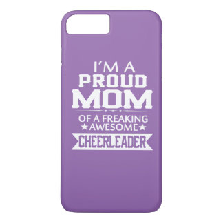 Capa iPhone 8 Plus/7 Plus Eu sou a MAMÃ de um cheerleader ORGULHOSO