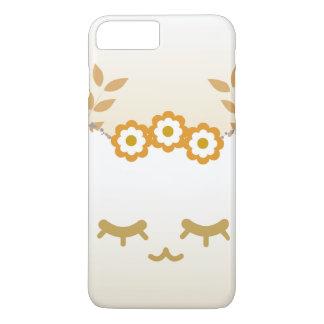 Capa iPhone 8 Plus/7 Plus Exemplo #2 do gato da flor