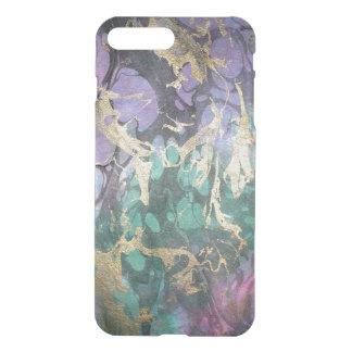 Capa iPhone 8 Plus/7 Plus Exemplo abstrato de mármore do desenhista