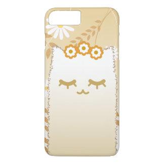 Capa iPhone 8 Plus/7 Plus Exemplo do gato da flor