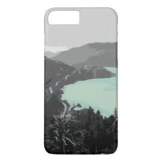 Capa iPhone 8 Plus/7 Plus exemplo do lago mountain do iPhone (4,5,6,7,8)