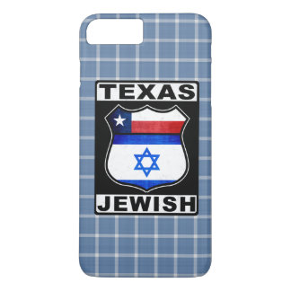 Capa iPhone 8 Plus/7 Plus Exemplo móvel americano judaico de Texas