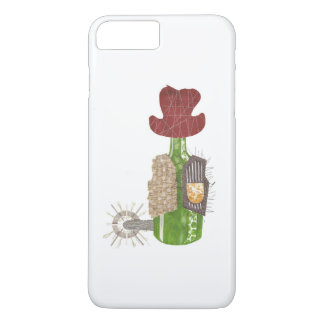 Capa iPhone 8 Plus/7 Plus Exemplo positivo de IPhone 7 do vaqueiro da