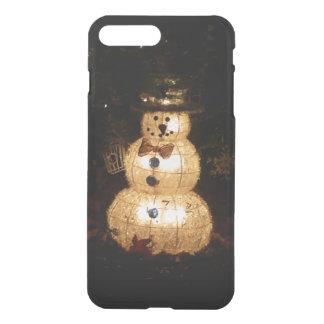 Capa iPhone 8 Plus/7 Plus Exposição da luz do feriado do boneco de neve