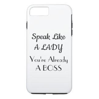 Capa iPhone 8 Plus/7 Plus Fale como uma senhora Caso