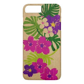 Capa iPhone 8 Plus/7 Plus Falso havaiano do jardim de Limahuli de madeira