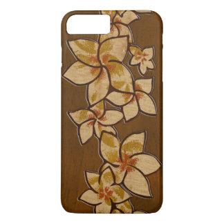 Capa iPhone 8 Plus/7 Plus Falso havaiano do Plumeria do Melia de madeira