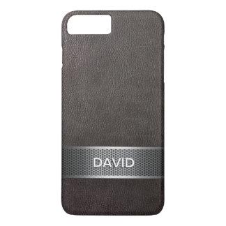 Capa iPhone 8 Plus/7 Plus Falso moderno couro & nome do costume da correia