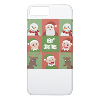 Capa iPhone 8 Plus/7 Plus Feliz Natal