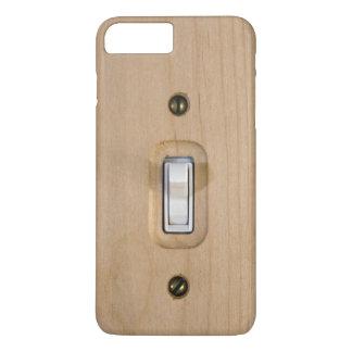 Capa iPhone 8 Plus/7 Plus Fim de madeira da placa do único interruptor acima
