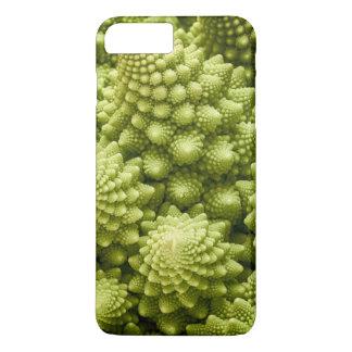 Capa iPhone 8 Plus/7 Plus Fim do vegetal dos brócolos de Romanesco acima