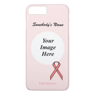 Capa iPhone 8 Plus/7 Plus Fita padrão cor-de-rosa Tmpl por Kenneth Yoncich