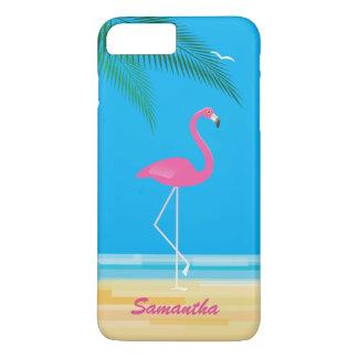 Capa iPhone 8 Plus/7 Plus Flamingo cor-de-rosa no caso positivo do iPhone 7