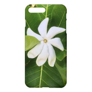 Capa iPhone 8 Plus/7 Plus Flor havaiana do jasmim de Pikake