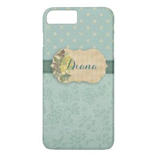 Capa iPhone 8 Plus/7 Plus Floral feminino da hortelã personalizado