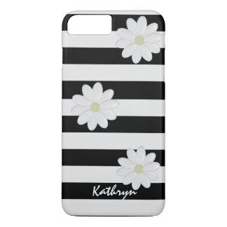 Capa iPhone 8 Plus/7 Plus Flores brancas conhecidas feitas sob encomenda