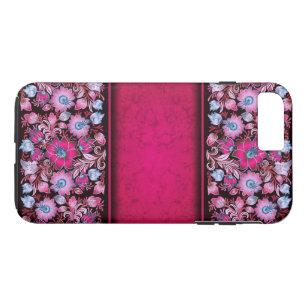 Capa iPhone 8 Plus/7 Plus Flores cor-de-rosa bonito no iPhone 7+ caso