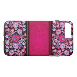 Capa iPhone 8 Plus/7 Plus Flores cor-de-rosa bonito no iPhone 7+ caso