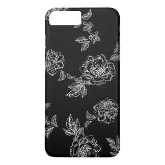 Capa iPhone 8 Plus/7 Plus Flores de tamanho grande das peônias