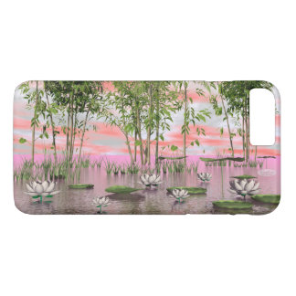 Capa iPhone 8 Plus/7 Plus Flores e bambus de Lotus - 3D rendem