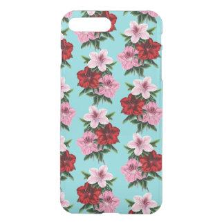 Capa iPhone 8 Plus/7 Plus flores rosas vermelha na luz da cerceta
