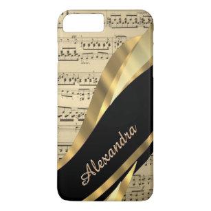 Capa iPhone 8 Plus/7 Plus Folha de música elegante personalizada