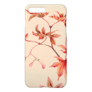 Capa iPhone 8 Plus/7 Plus Folhas de bordo (impressão do japonês do vintage)