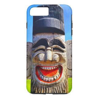 Capa iPhone 8 Plus/7 Plus Foto de madeira de riso de sorriso da cara dos