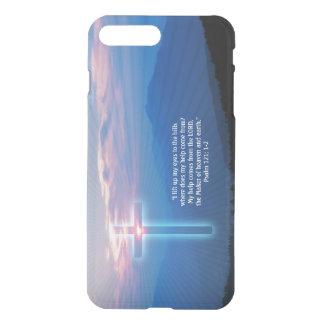 Capa iPhone 8 Plus/7 Plus Foto e cruz das montanhas. Salmo 121; 1-2