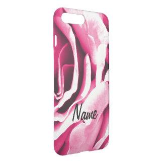 Capa iPhone 8 Plus/7 Plus Foto floral dos rosas cor-de-rosa bonitos