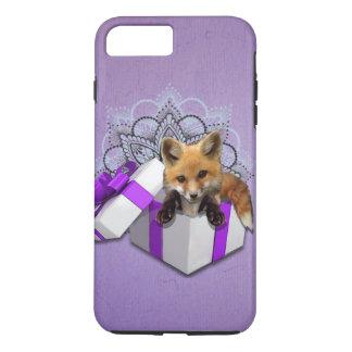 Capa iPhone 8 Plus/7 Plus Fox em uma caixa