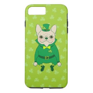 Capa iPhone 8 Plus/7 Plus Frenchie bonito afortunado no dia de St Patrick