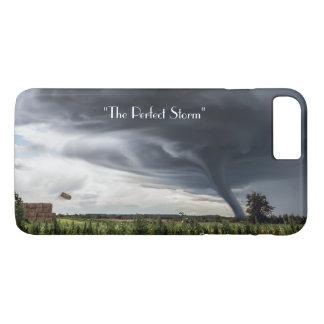 Capa iPhone 8 Plus/7 Plus Furacão da tempestade ou tempo do desastre do