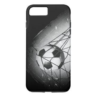 Capa iPhone 8 Plus/7 Plus Futebol legal do Grunge do vintage no objetivo