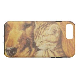 Capa iPhone 8 Plus/7 Plus Gato amigável bonito & cão