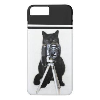 Capa iPhone 8 Plus/7 Plus Gato com a câmera