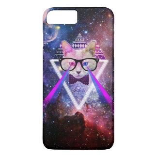 Capa iPhone 8 Plus/7 Plus Gato da galáxia do hipster