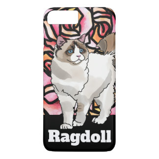 Capa iPhone 8 Plus/7 Plus Gato de Ragdoll + Nome de animal de estimação
