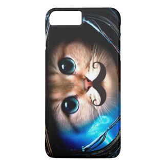 Capa iPhone 8 Plus/7 Plus Gato do bigode do astronauta