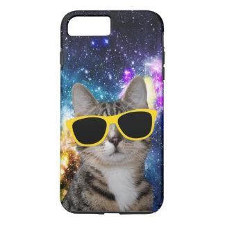 Capa iPhone 8 Plus/7 Plus Gato no caso positivo do iPhone 7 do espaço